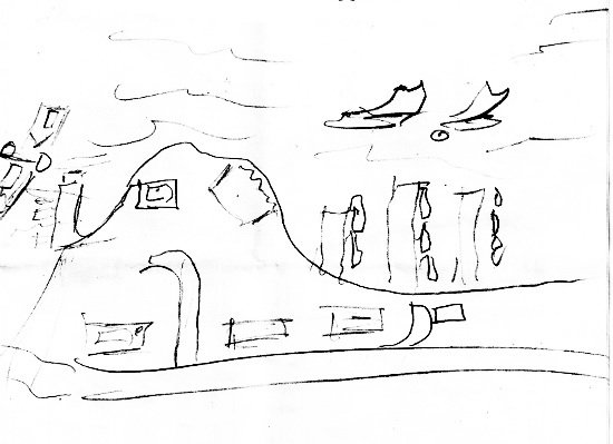 Essex, NY Doodle, by Bud Egglefield on July 23, 2013